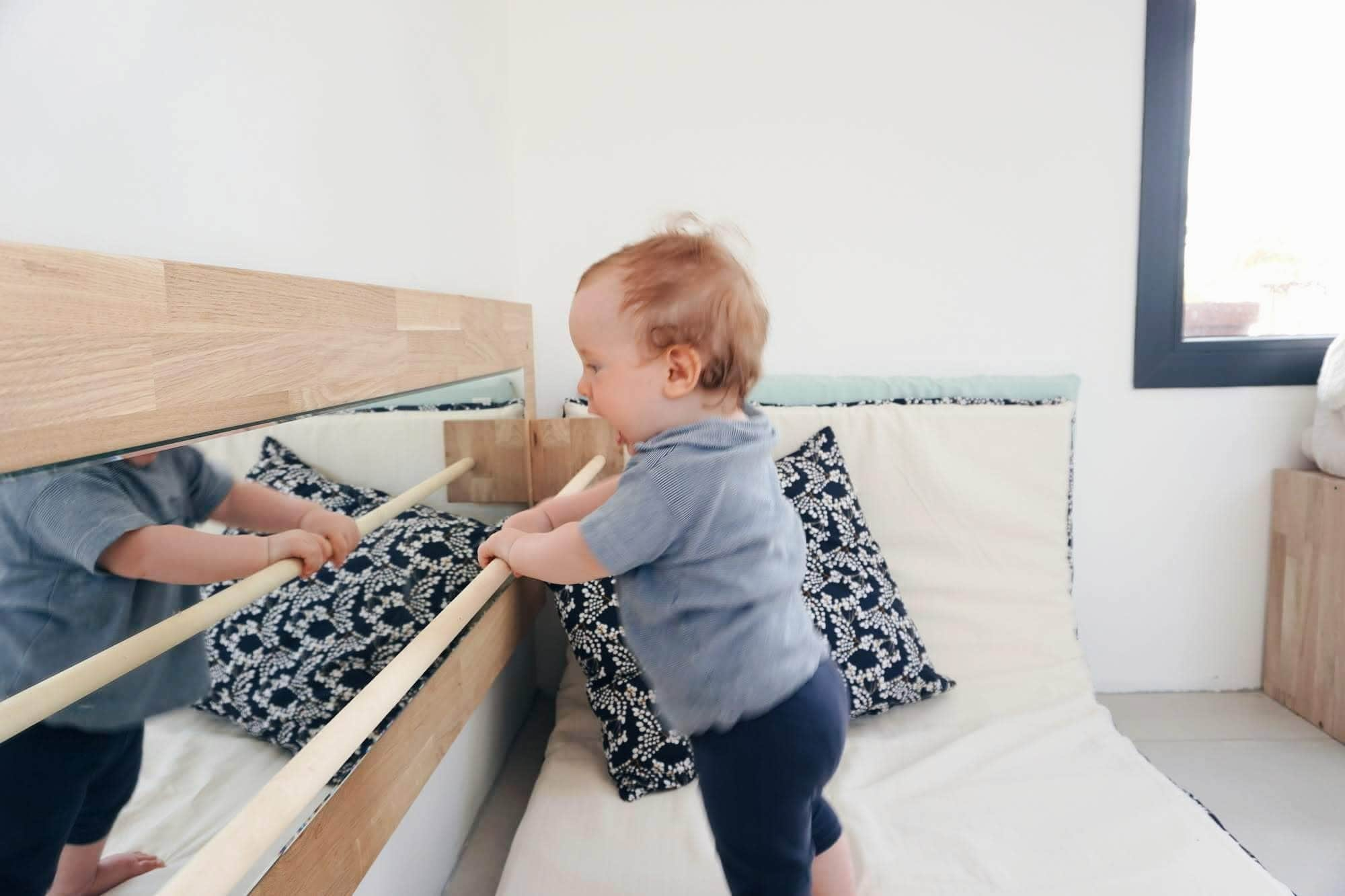 Aménagement coin activité de bébé Montessori