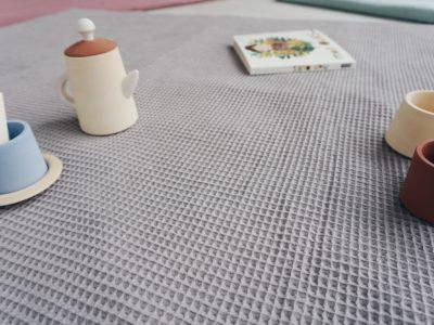 Détail couleur taupe naturelle coton oeko tex